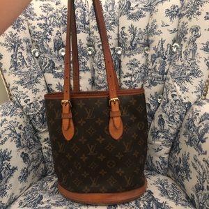 Louis Vuitton Monogram Petit Bucket Bag